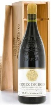 """Вино Chateauneuf-du-Pape """"Croix de Bois"""" AOC 2007, gift box, 1.5 л"""