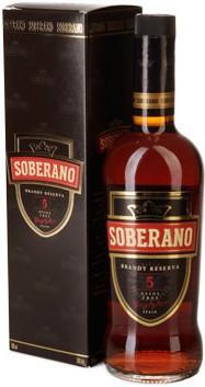 """Бренди """"Soberano"""" 5, gift box, 0.7 л"""