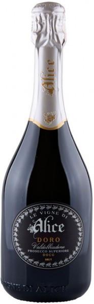 """Игристое вино Le Vigne di Alice, """"Doro"""" Brut Prosecco Superiore Valdobbiadene DOCG, 2013"""