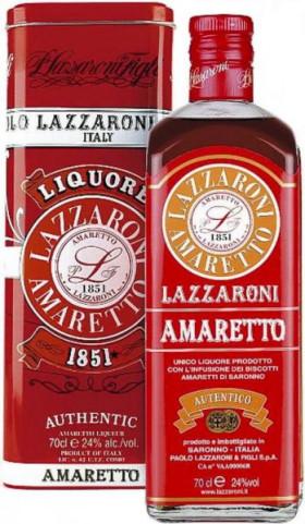 Ликер Lazzaroni, Amaretto 1851, gift box, 0.7 л