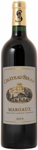 Вино Chateau Siran, Margaux AOC Cru Bourgeois, 2010
