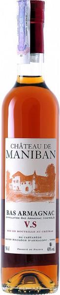 "Арманьяк Castarede, ""Chateau de Maniban"" VS, Bas Armagnac AOC, 0.5 л"