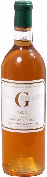 "Вино Chateau Gilette ""G"", Sauternes AOC, 1954, 0.72 л"