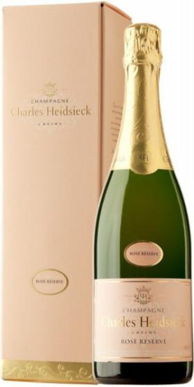 Шампанское Charles Heidsieck, Rose Reserve, Champagne AOC, gift box