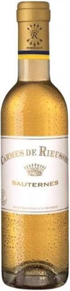 """Вино """"Les Carmes de Rieussec"""", Sauternes AOC, 2012, 375 мл"""