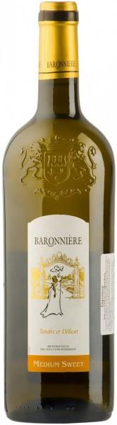 "Вино ""Baronniere"" Blanc Medium Sweet"