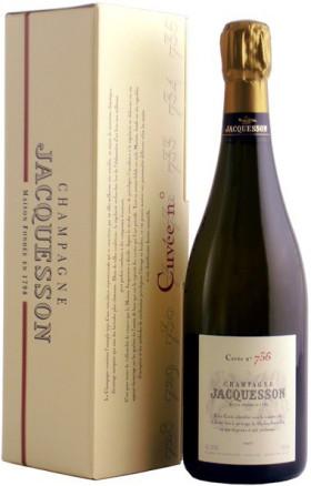 """Шампанское Jacquesson, """"Cuvee № 736"""" Brut, gift box"""