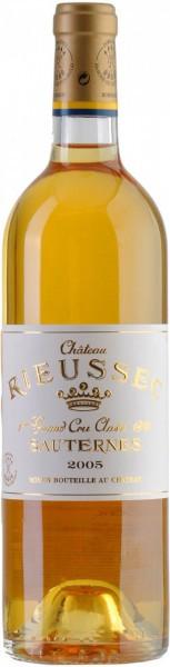 Вино Chateau Rieussec, Sauternes AOC 1-er Grand Cru Classe, 2005
