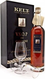 Коньяк Kelt Tour du Monde V.S.O.P. Grande Campagne, Gift box with 2 glasses, 0.7 л