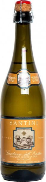"""Игристое вино """"Santini"""" Bianco, Lambrusco dell'Emilia IGT"""