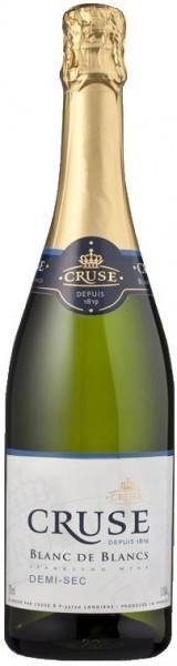 Игристое вино Cruse, Blanc de Blancs Demi-sec