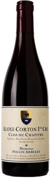 "Вино Domaine Follin-Arbelet, Aloxe-Corton Premier Cru ""Clos du Chapitre"" AOC, 2013"