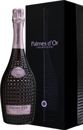 "Шампанское Nicolas Feuillatte, ""Palmes D'Or"" Brut Rose, 2005, gift box"