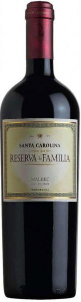 Вино Santa Carolina, Reserva de Familia Malbec Peumo DO, 2009