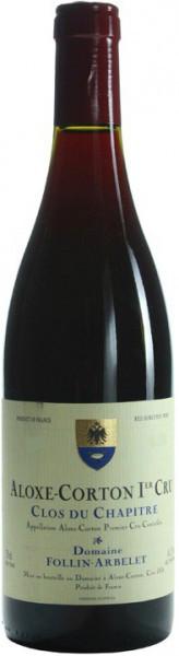"Вино Domaine Follin-Arbelet, Aloxe-Corton Premier Cru ""Clos du Chapitre"" AOC, 2011"