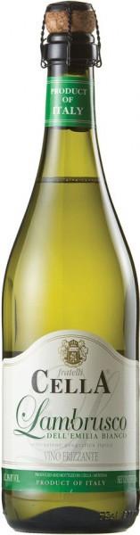 Игристое вино Cella, Lambrusco Bianco, Emilia-Romagna IGT