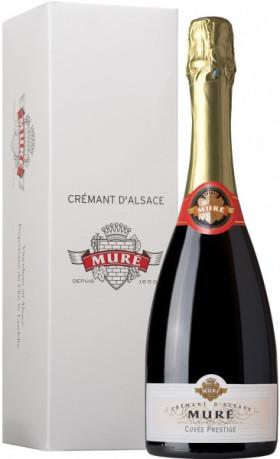 "Игристое вино Rene Mure, Cremant d'Alsace ""Cuvee Prestige"" Brut, gift box"