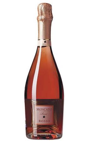 Игристое вино Bosio Moscato Spumante Dolce Rose gift box 0.75л