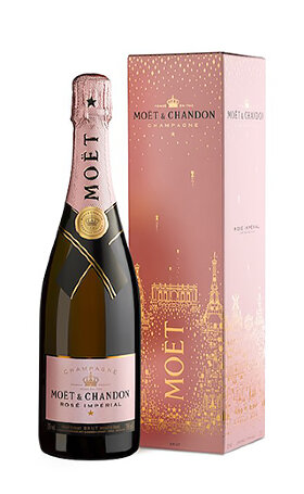 Шампанское Moet & Chandon Rose Imperial new year 2018 edition 0.75л