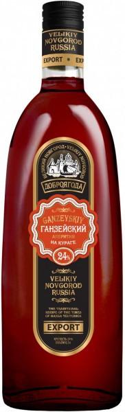 "Аперитив Dobrojagoda, ""Ganzejskij"" on Dried Apricots, 0.5 л"