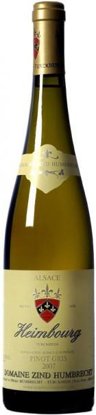 """Вино Zind-Humbrecht, Pinot Gris """"Heimbourg"""" AOC, 2007"""