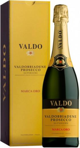 """Игристое вино Valdo, """"Marca Oro"""", Prosecco di Valdobbiadene Superiore DOCG, gift box"""