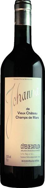 """Вино Vieux Chateau Champs de Mars, """"Johanna"""", 2000"""