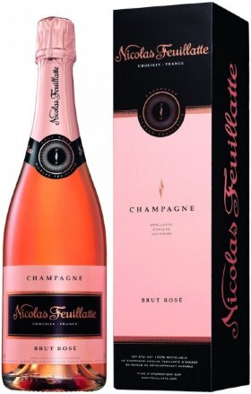Шампанское Nicolas Feuillatte, Brut Rose, gift box