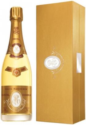 """Шампанское """"Cristal"""" AOC, 2009, gift box"""