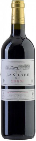 Вино Chateau La Clare (kosher mevushal), Medoc AOC Cru bourgeois, 2010