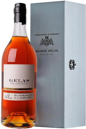 Арманьяк Gelas, Bas Armagnac 8 ans, wooden box, 2.5 л
