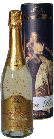 "Игристое вино ""Golden Kiss"" Semi-Sweet, gift tube"