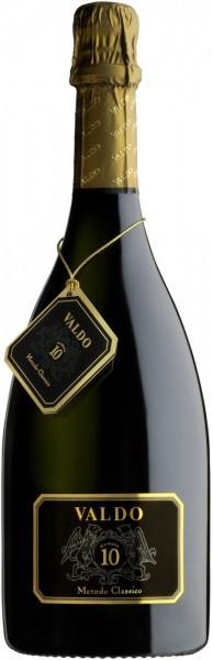 """Игристое вино Valdo, """"Numero 10"""" Metodo Classico Brut Valdobbiadene DOCG, 2014"""