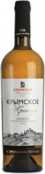 """Вино Krymsky winery, """"Krymskoe Premium"""" Chardonnay Semi-sweet"""