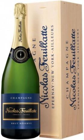 Шампанское Nicolas Feuillatte, Brut Reserve Particuliere, wooden box, 1.5 л