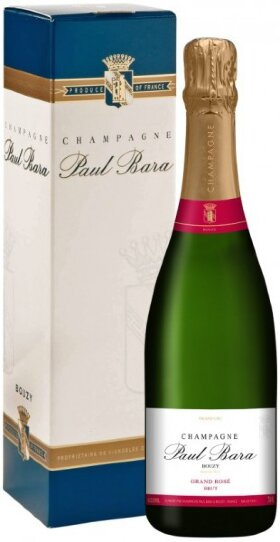 Шампанское Paul Bara, Brut Grand Rose Grand Cru, Champagne AOC, gift box