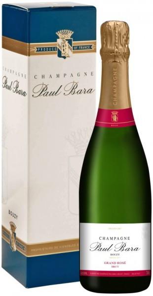 Шампанское Paul Bara, Brut Grand Rose Grand Cru, Champagne AOC, gift box