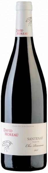 "Вино David Moreau, Santenay 1-er Cru ""Clos Rousseau"" AOC, 2013"