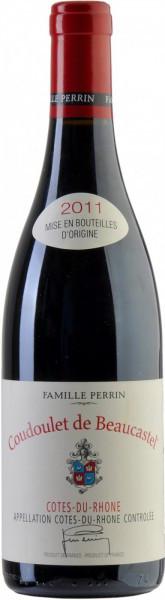 """Вино Perrin et Fils, """"Coudoulet de Beaucastel"""", Cotes-du-Rhone AOC Rouge, 2011"""