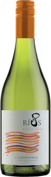 """Вино """"8 Rios"""" Chardonnay, 2015"""