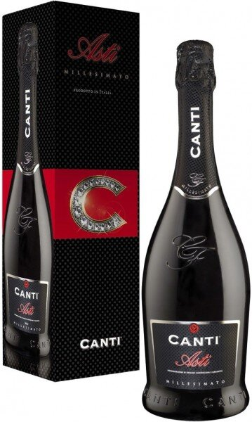 Игристое вино Canti, Asti DOCG, 2016, gift box