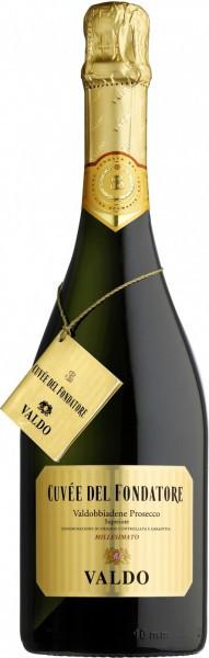 Игристое вино Valdo, Cuvee del Fondatore, Prosecco di Valdobbiadene DOCG