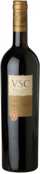"""Вино Santa Carolina, """"VSC"""", Cachapoal Valley DO, 2001"""