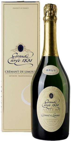 "Игристое вино ""Grande Cuvee 1531"" Blanc de Aimery, Cremant de Limoux, gift box"