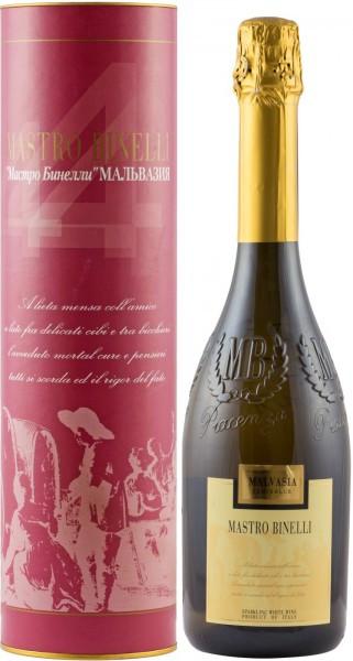 """Игристое вино """"Mastro Binelli"""" Malvasia Semidolce, gift tube"""