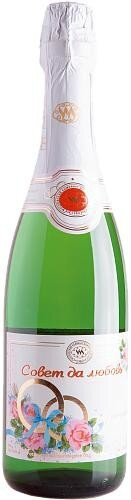 "Игристое вино Moscow Champagne Winery, ""Council and love"", Semi-Sweet"