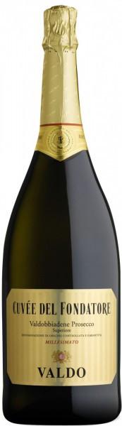 Игристое вино Valdo, Cuvee del Fondatore, Prosecco di Valdobbiadene DOCG, 1.5 л