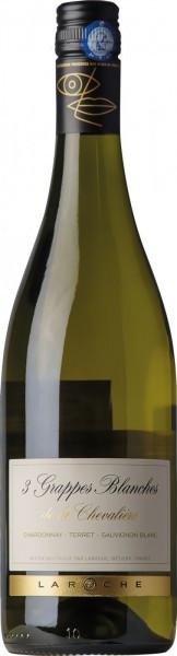 """Вино Domaine Laroche, """"3 Grappes Blanches de la Chevaliere"""", 2013"""