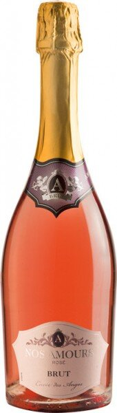 "Игристое вино Grands Chais de France, ""A Nos Amours"" Rose Brut"