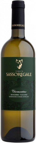 Вино Tenuta Sassoregale, Vermentino, Maremma Toscana DOC 2015